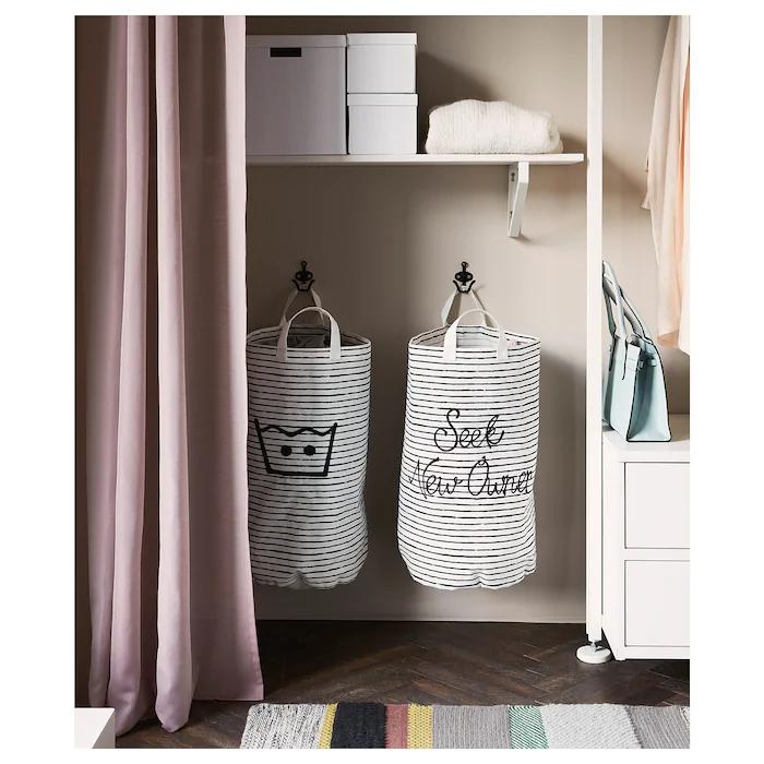 Klunka Laundry Bag White Black 16 Gallon In 2020 Ikea Laundry