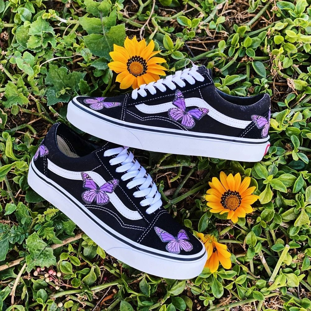 Butterfly shoes, Vans shoes fashion