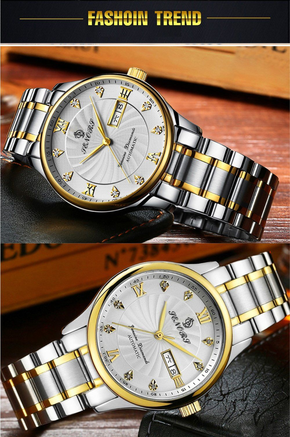 Senors SN181 cheap mens day date automatic watches in 2020 ...