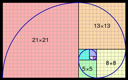 Fibonacci Number Wikipedia Fibonacci Sequence In Stripes Or Tiles Such As Above 1 1 2 3 5 8 13 A Golden Ratio Fibonacci Number Fibonacci Golden Ratio