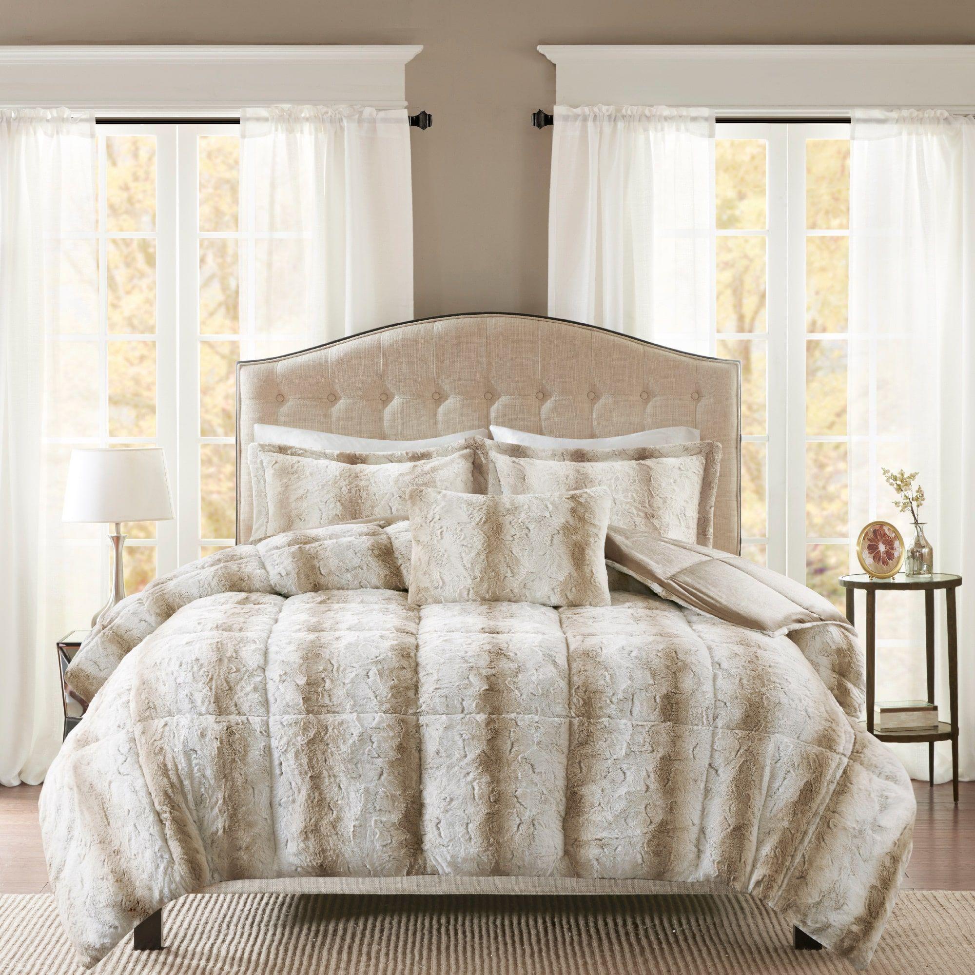 Madison Park Marselle Faux Fur Comforter Set Comforter Sets Fur