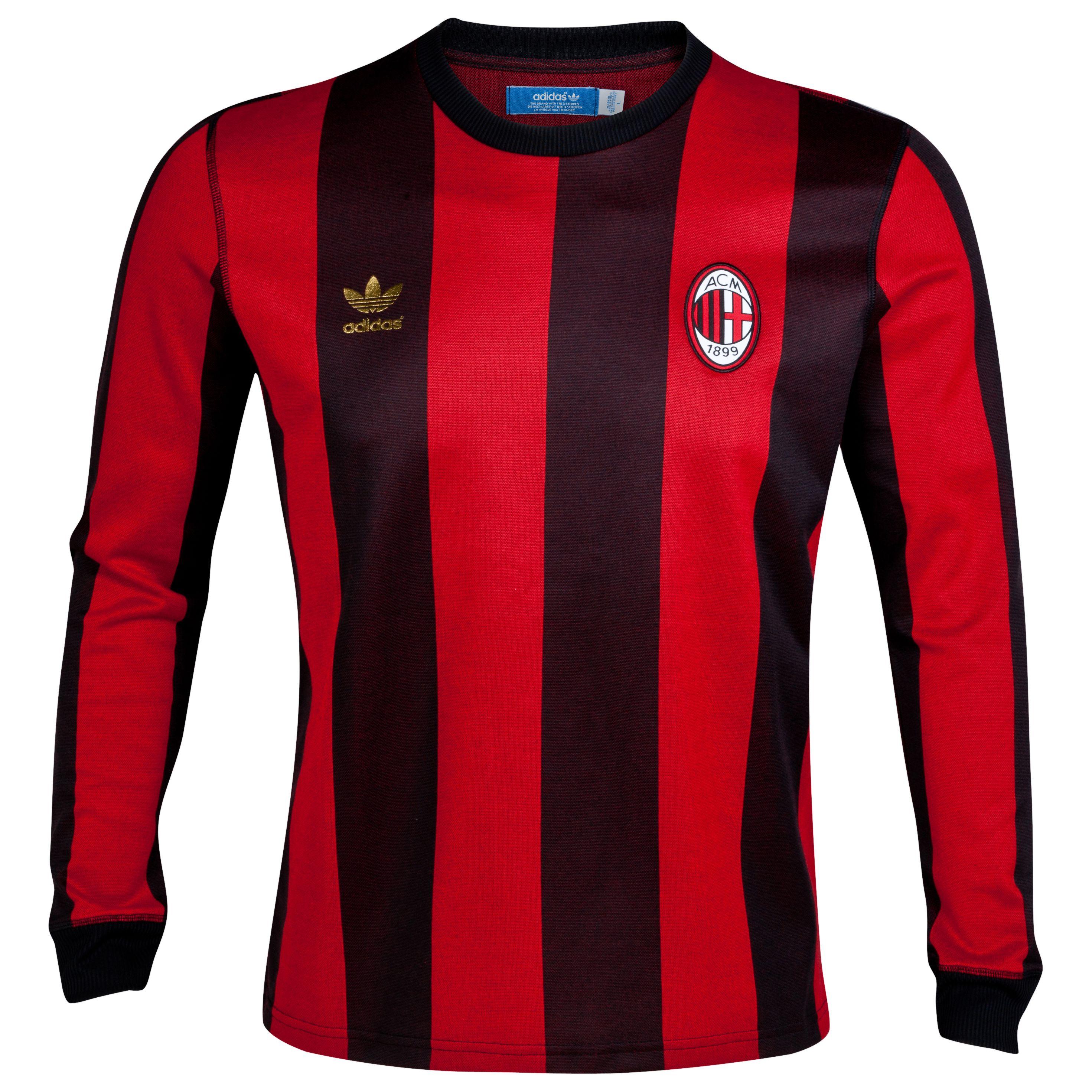 Camiseta ADIDAS retro del AC Milan  edd44f62b2ddd