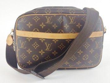 Louis Vuitton Monogram Reporter Brown Cross Body Bag $895