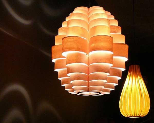 Artistic Lighting Shades from  Passion 4 Wood  & Artistic Lighting Shades from