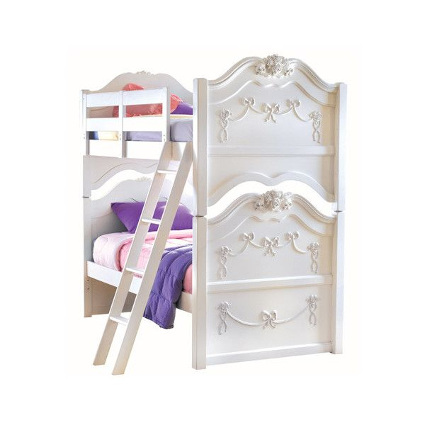 Disney Princess White Twin Over Bunk Bed Funiture1