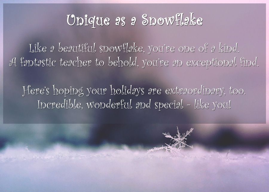5 more printable holiday poems for teachers
