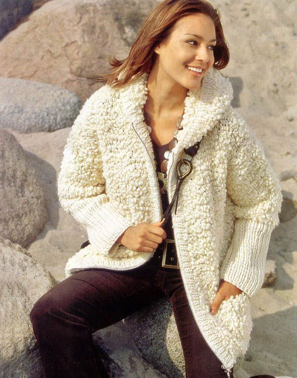 вязаные куртки женские крючком фото также завитки очень