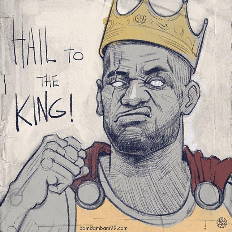 LeBron James Hail to the King Sketch