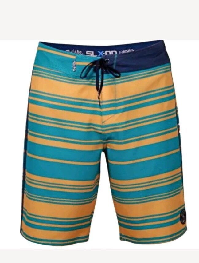 e5a48915a2 Salt Life Men's Board Shorts Swim Trunks Anti Rash SLX-QD Teal Blue Melon  32 NEW #SaltLife #BoardShorts