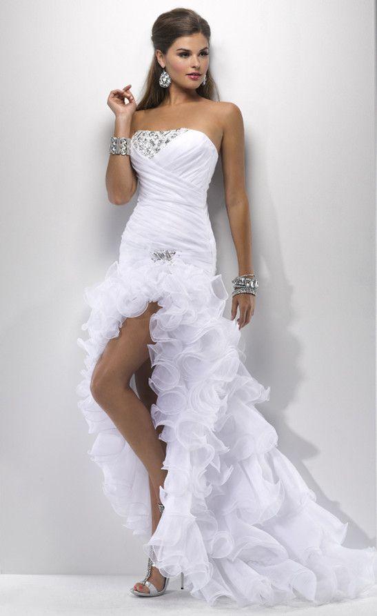 837d7687bce cheap sexy wedding dresses 2013 ball gown short front long back short sexy  wedding gowns 547x893