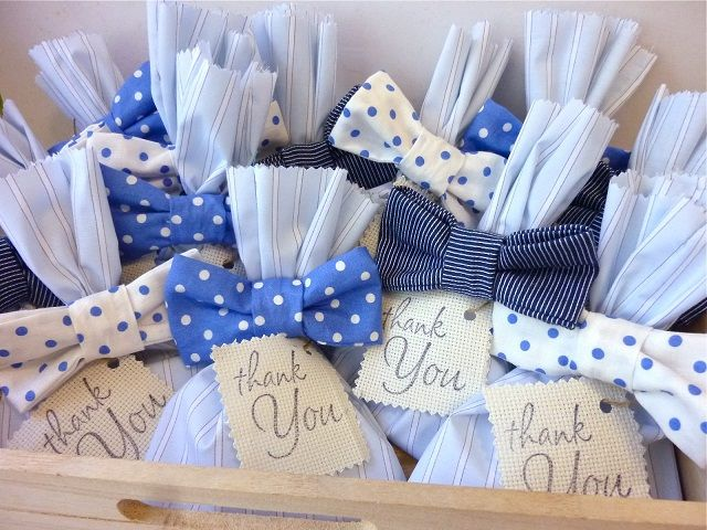 SMALL COTTON GIFT WEDDING PARTY FAVOUR BAG Blue THANK YOU FOR GIVING ME AWAY
