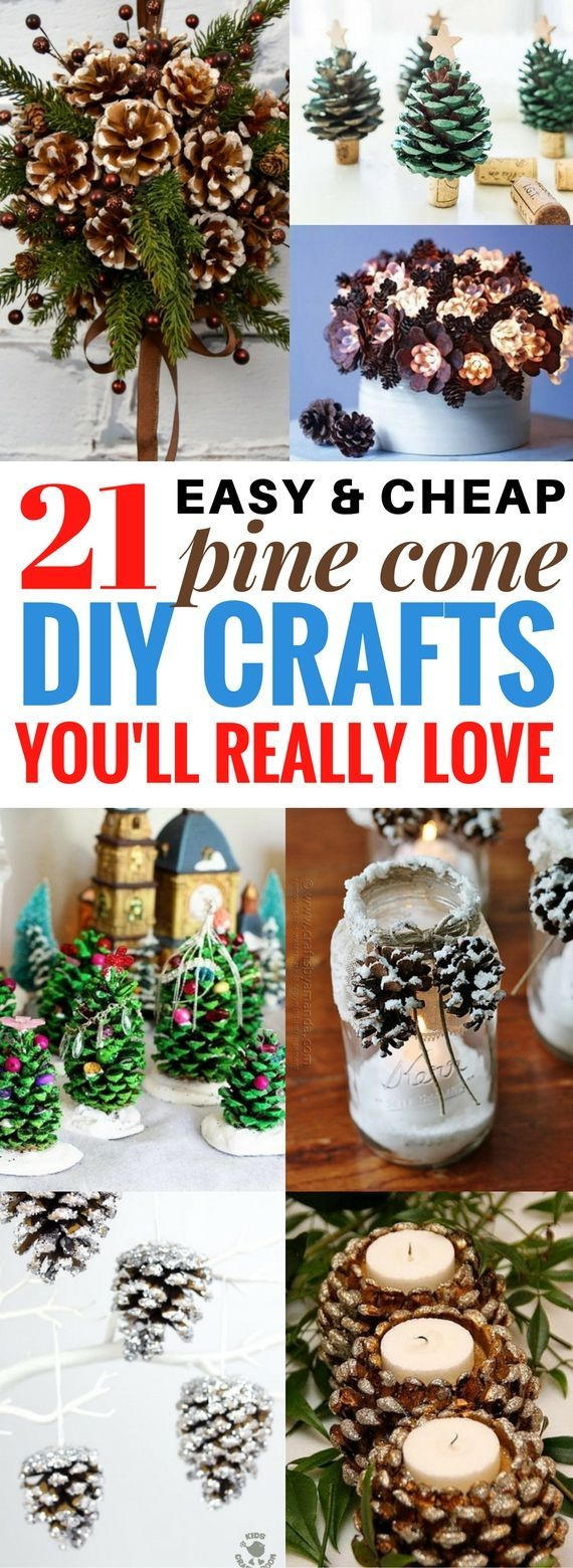 21 Best DIY Pine Cone Craft Ideas