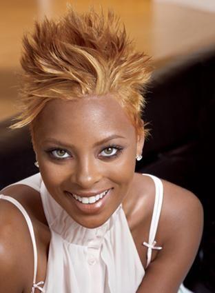 High Blonde Spiked Short Black Women Haircut Relaxed Hair Black