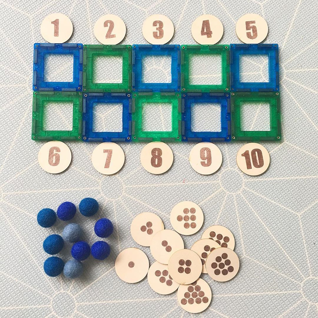 Diy Magnetic Tile Ten Frame Use To Explore Numbers And
