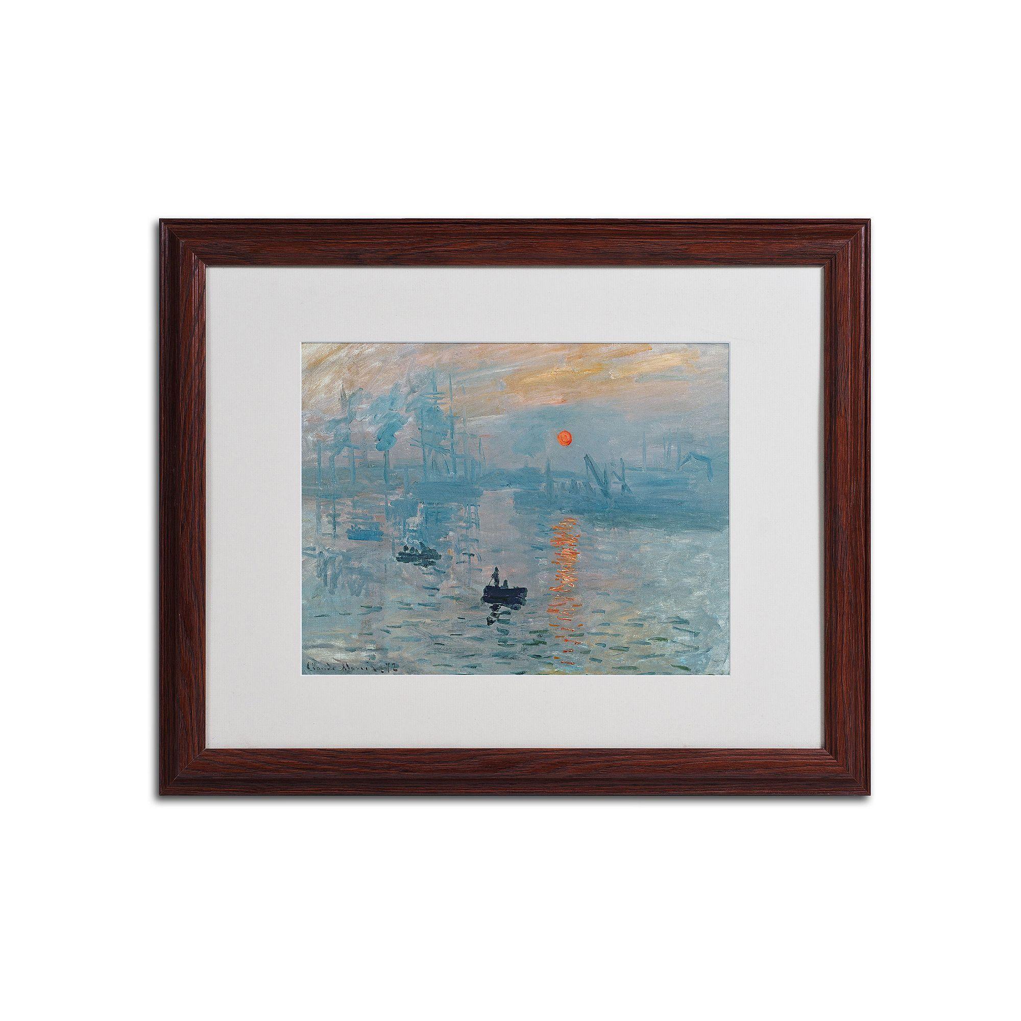 Trademark Fine Art Impression Sunrise Framed Canvas Wall Art By