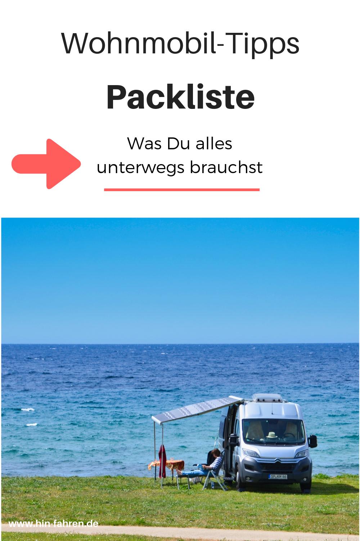 Packliste Wohnmobil: über 9 Teile & Tipps Erstausstattung