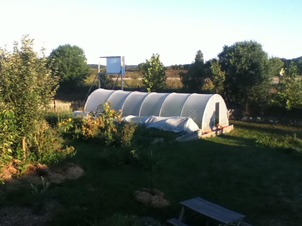 Raised bed and hoop house information gathered from One Straw