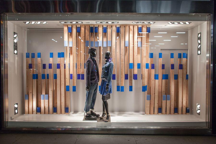 Window Display Blue on Blue – Armani Exchange - Retailand ...