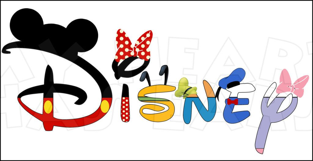 Disney In A Word Fab Five Character Text Instant Download Digital
