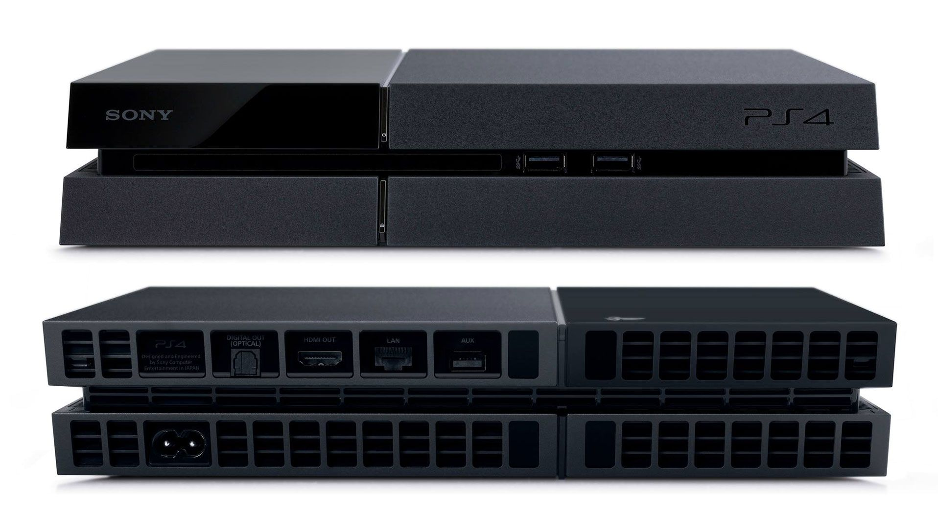 What the front and back of the Ps4 looks like