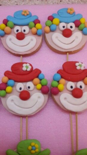 clown cookies  Cake in 2019  Torten Kinder kuchen