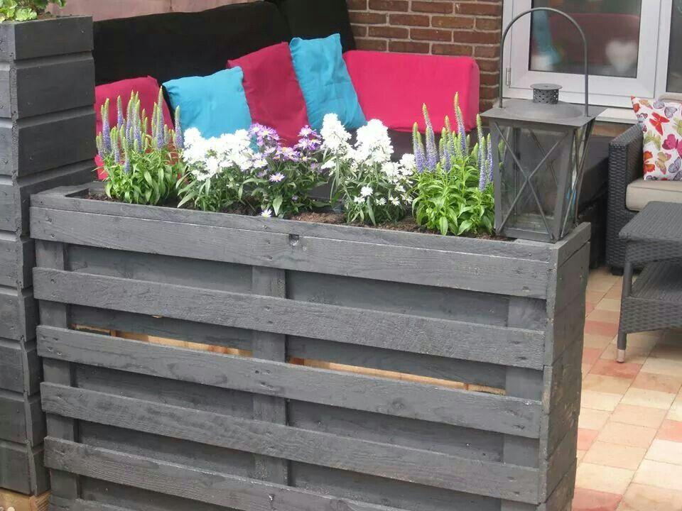 Uitgelezene Bloembak van pallets | Tuin, Diy plantenbakken, Tuin pallet MB-59