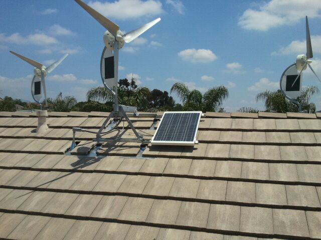 Superior Small Wind Turbine For Home Use Part - 6: SolAir Micro Wind Turbines With Solar Panels. Hybrid Wind/Solar Power  Generators For Homes.