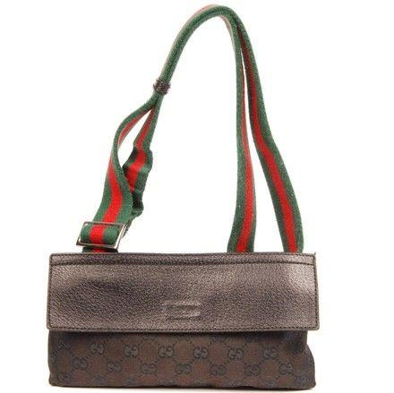 225943ed0df Gucci Gg Monogram Fanny Pack Waist Belt Black Canvas Weekend Travel Bag.  Save 50% on the Gucci Gg Monogram Fanny Pack Waist Belt Black Canvas  Weekend Travel ...