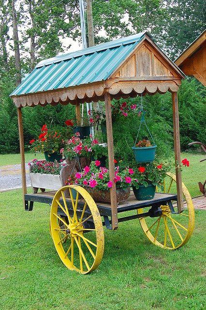Flower Carts On Wheels Cart Flowers