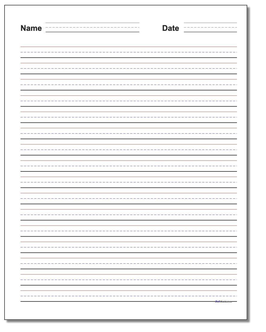 Blank Handwriting Worksheets for Kindergarten   Worksheet for Kindergarten  in 2020   Writing practice worksheets [ 1100 x 880 Pixel ]