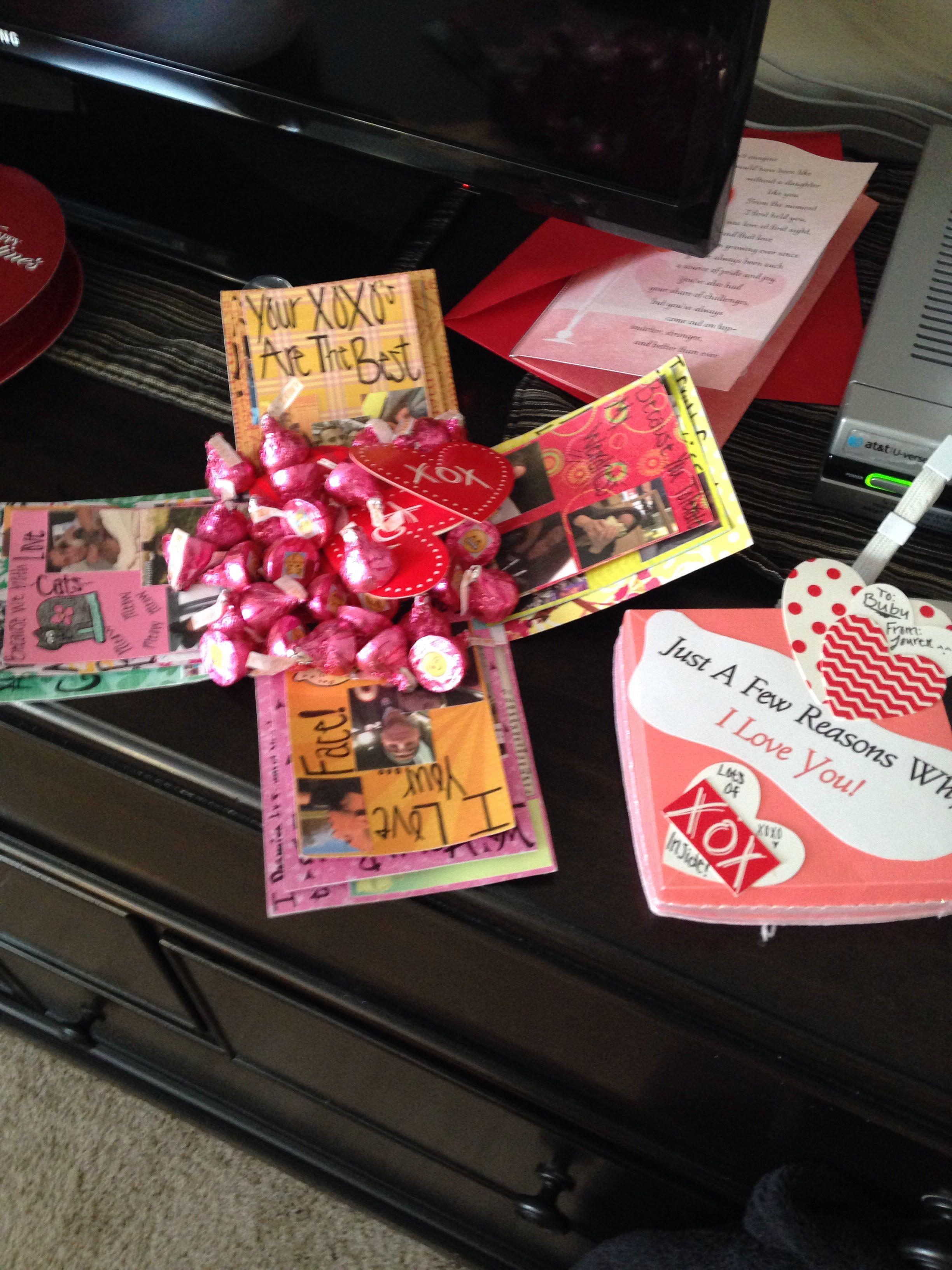 My exploding box I made for my boyfriend on valentines day