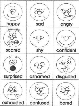 Emotionen-Karten von Lehrer schätze Marys Freebie Seite... mit Sonne ...