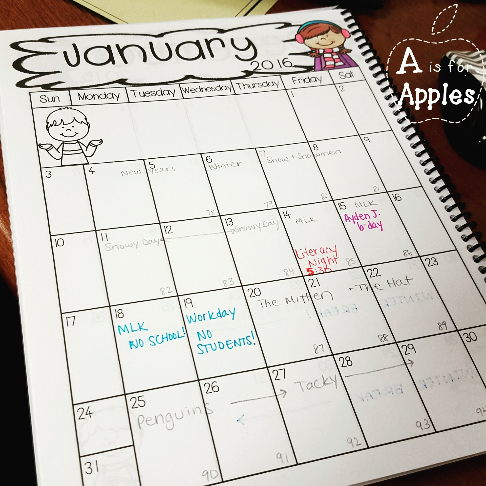 Monthly Teacher Calendars For Planning