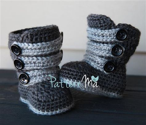 Crochet Baby Boot Pattern Strappy #1 | Baby boots, Yarns and Craft