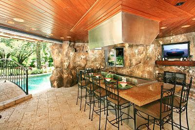 Hibachi Grill Overlooking The Pool Orlando Homes For Sale
