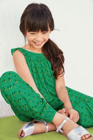 e58b60bb279 Buy Green Pineapple Print Harem Playsuit (3-16yrs) from Next Sweden ...