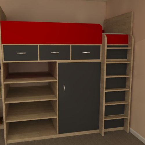 Phoenix High Sleeper Bed With Under Storage Great Space Saving Utilises In Your Child Or Teens Bedroom Dimensions Height