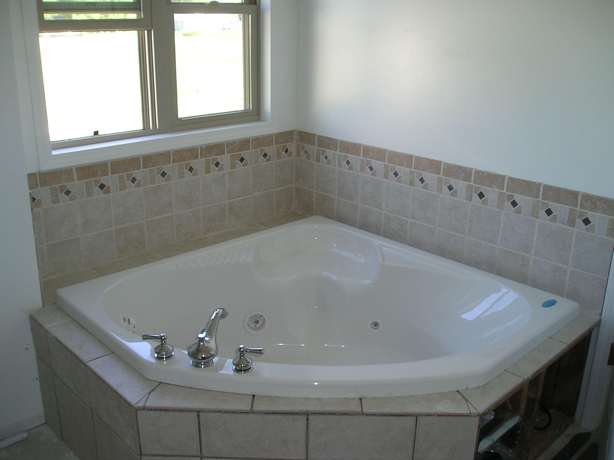 Corner Tub Shower Ideas Bathroom Contemporary Vanity Glass Block