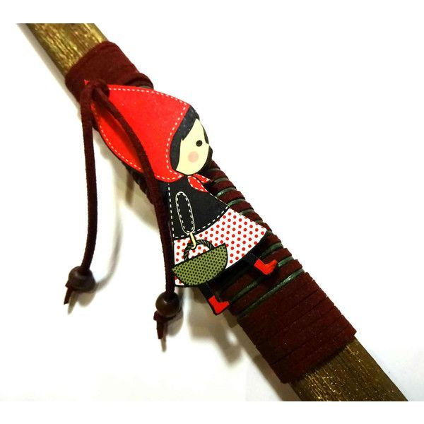 Easter candle orthodox easter gift greek easter lambada godchild easter candle orthodox easter gift greek easter lambada godchild gift red riding hood pendant handmade decorated negle Gallery