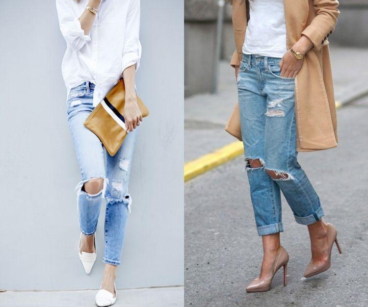 zerrissene jeans selber machen used look ist total in diy pinterest zerrissene jeans. Black Bedroom Furniture Sets. Home Design Ideas