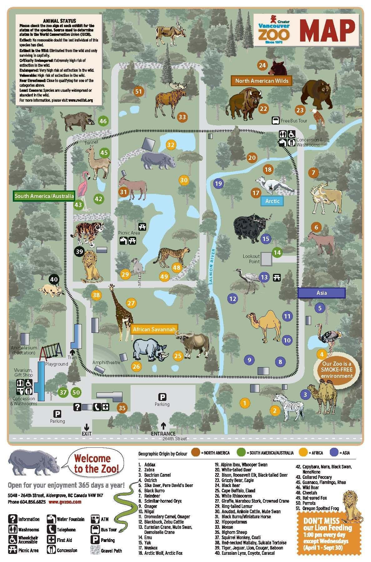 Zoo Map Greater Vancouver Zoo Great Day Out With The Kids