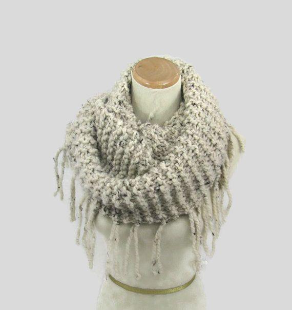 Knit Infinity Scarf Knit Cowl Bulky Infinity by ArlenesBoutique