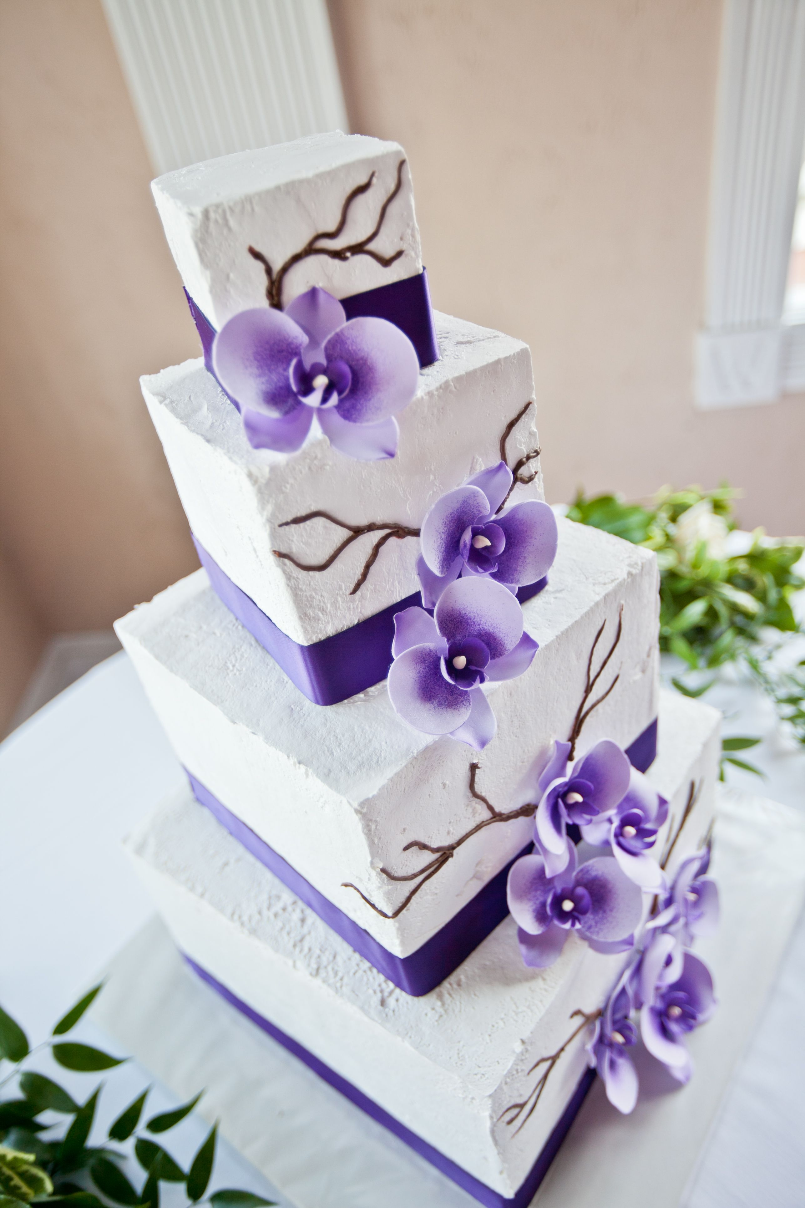 Wedding cake without fondant...I'm thinking fondant would