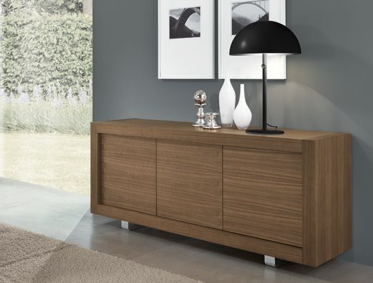 Credenza Moderna Noce Canaletto : Madia in noce canaletto p picasso anta simple riflessi srl