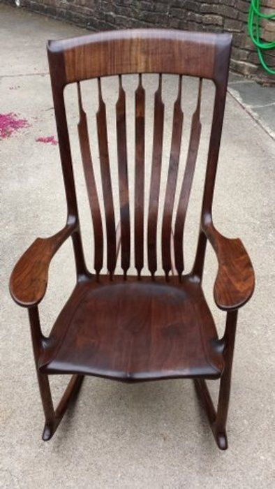 sam maloof rocking chair plans hal taylor adirondack white sculpted rocker a la in 2019