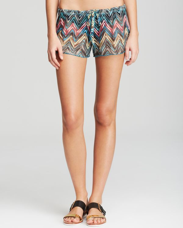 Becca by Rebecca Virtue Stepping Up Swim Cover Up Drawcord Short