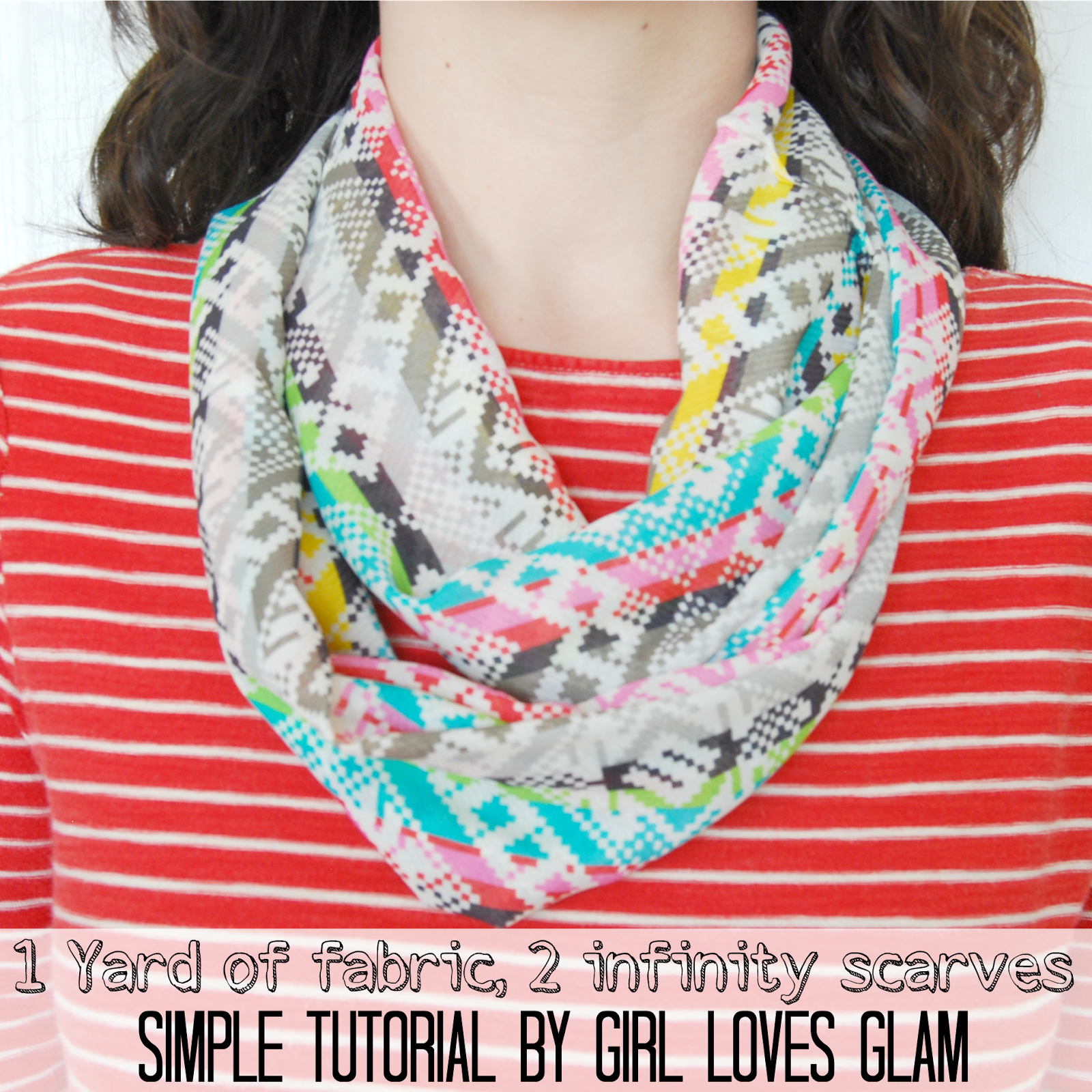 How to make a simple infinity scarf | Nähen