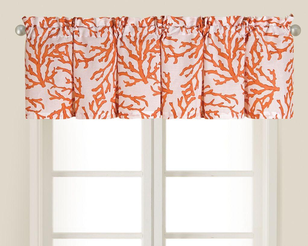 Window decor and more orange beach  coral kitchen valance  florida kitchen ideas  pinterest  kitchen