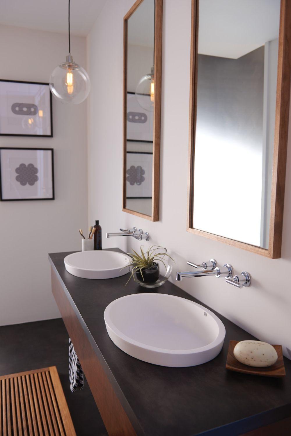 Arris Chrome two-handle wall mount bathroom faucet -- TS43003 ...