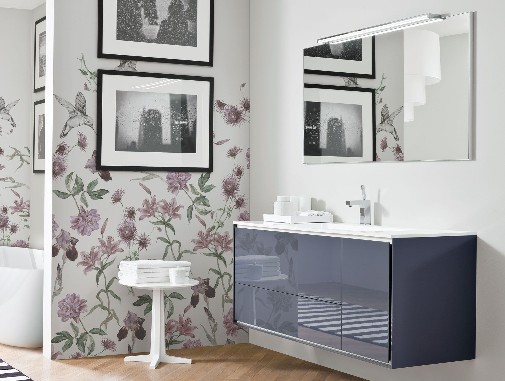 Frame FR5 Modern Italian Designer Bathroom Vanity in Grey Lacquer ...